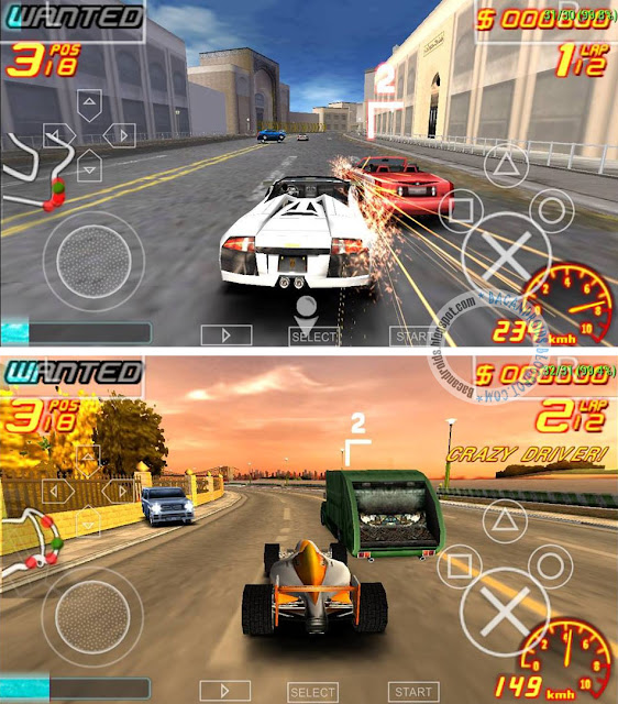 Asphalt Urban GT 2 ISO High Compress For PPSSPP Android