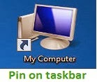 Computer Icon Pin on Taskbar