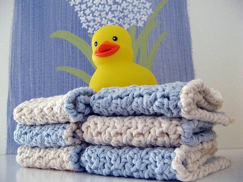 Crochet Baby Washcloth Pattern : knitnscribble.com: Knit and crochet dishcloth patterns are ...