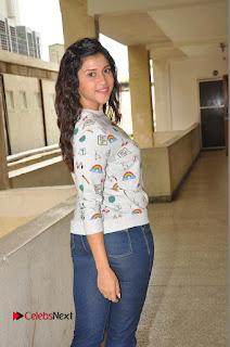 Actress Mannara Chopra Pictures in Denim Jeams at Thikka Movie Interview 0070