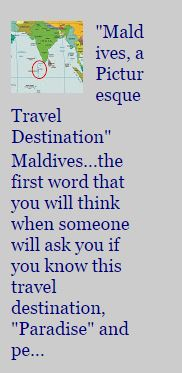 Traveling MALDIVES