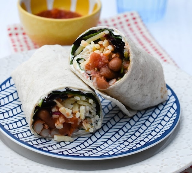 Spicy Bean Lunchtime Wrap