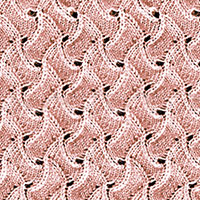 Scroll Lace #Knitting stitch, this is a fun lace stitch pattern! Using this pattern to make a scarf, just repeating it on and on and on.