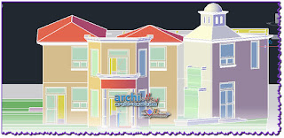 download-autocad-dwg-file-3d-two-levels-house-duplex-house