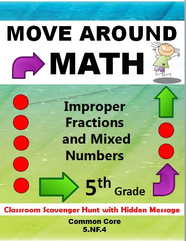 Simply Teaching Move Around Math Classroom Fraction
