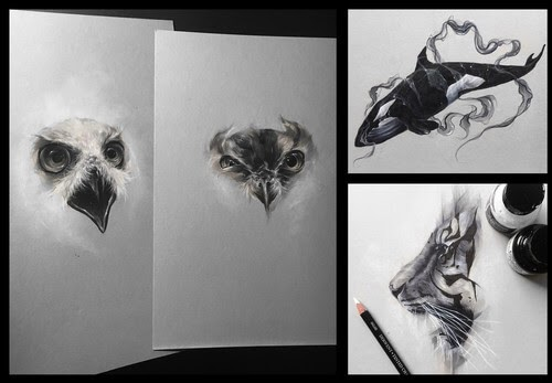 00-Sol-W-Whiteside-Mixture-of-Animal-Paintings-and-drawings