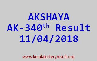 AKSHAYA Lottery AK 340 Result 11-04-2018