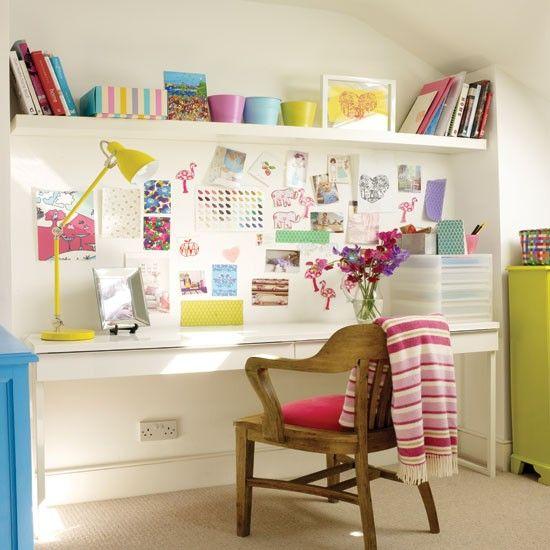 home office colorido e bm planejado