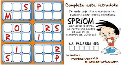 Sudoku, Letrasdoku, Sudoku 2x3, Sudoku con letras