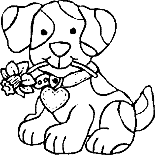 Puppy Dog Colouring Pages To Print