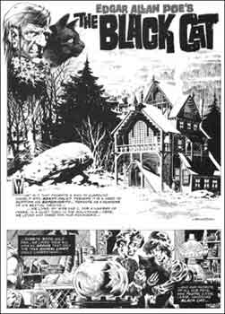 The Black Cat de Edgar Allan Poe adaptado por Bernie Wrightson