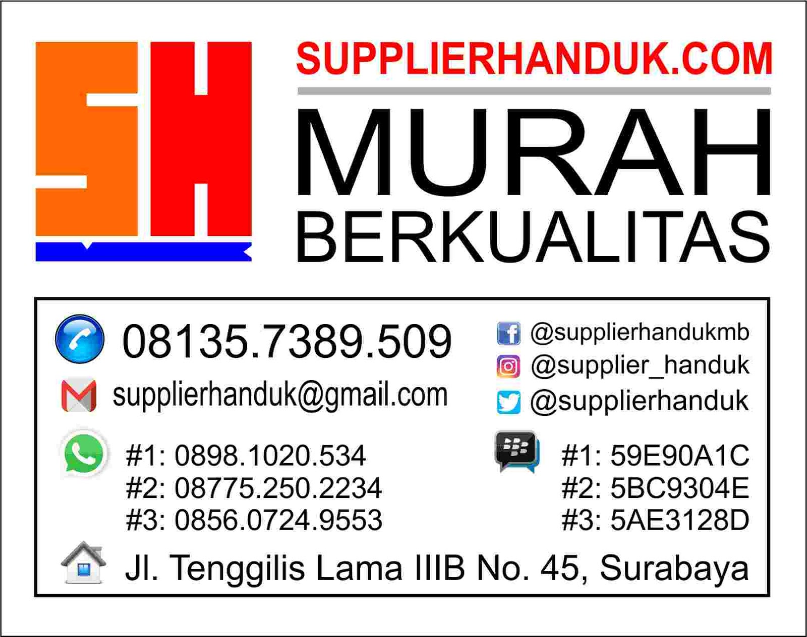 TENTANG SUPPLIER HANDUK MURAH BERKUALITAS