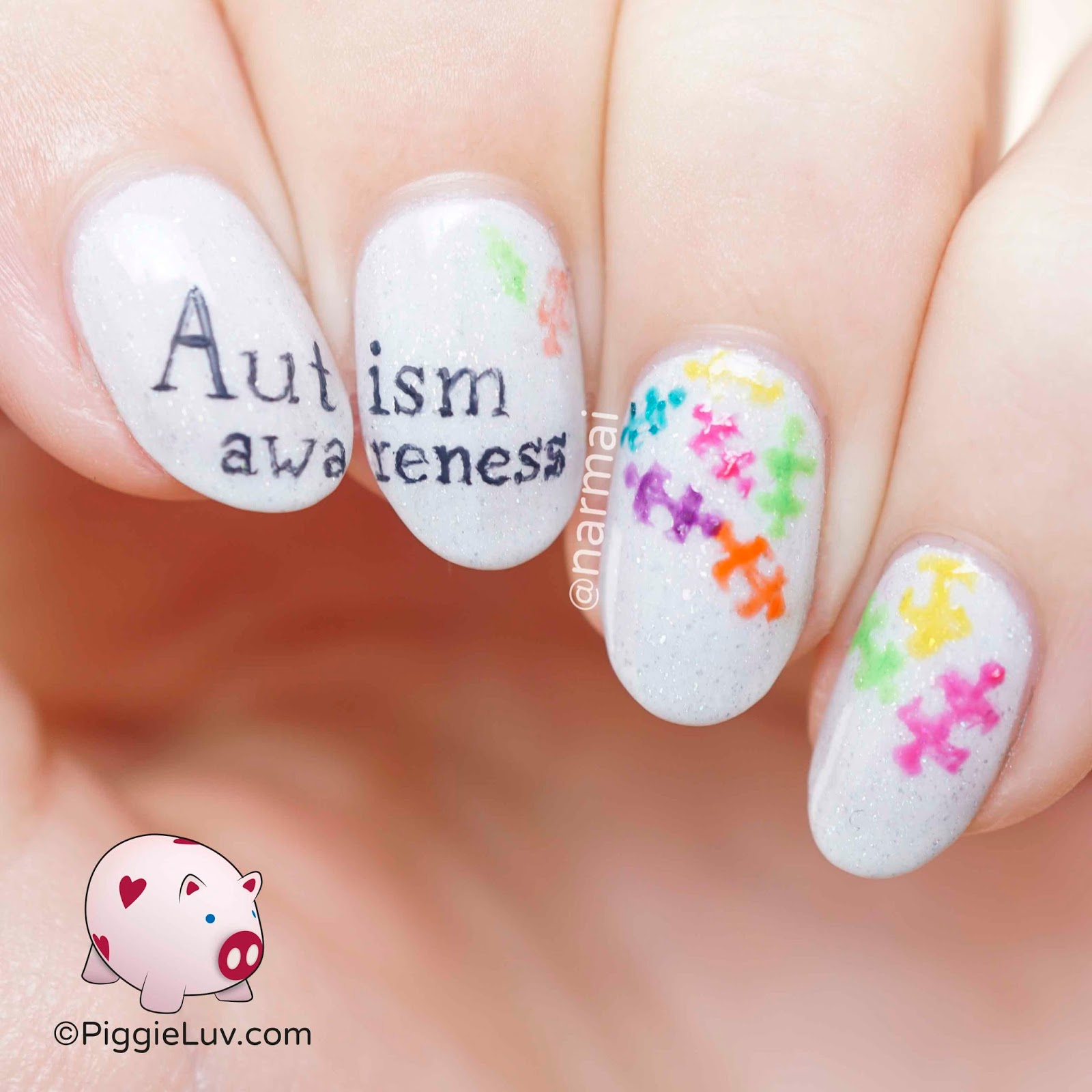 Nail Ideas For April: PiggieLuv: Autism Awareness Nail Art