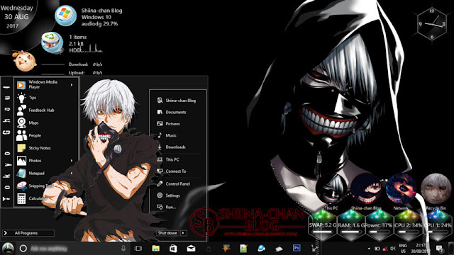 Windows 10 Ver. 1709 Theme Tokyo Ghoul by Enji Riz