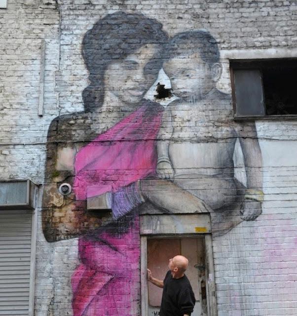 Уличные художники Andrea Michaelsson и Ilya Meyer 2