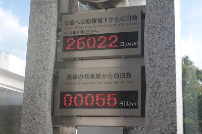 Reloj que cuenta los días de las pruebas nucleares