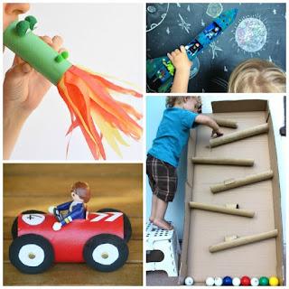 A collection of cardboard tube crafts for kids to make #cardboardcrafts #cardboardtoys #cardboardtubesrepurposed #cardboardtubecraftsforkids #growingajeweledrose #activitiesforkids