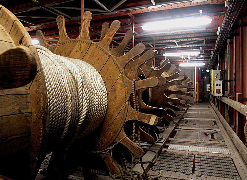 Maquinaria del escenario de la Ópera Garnier