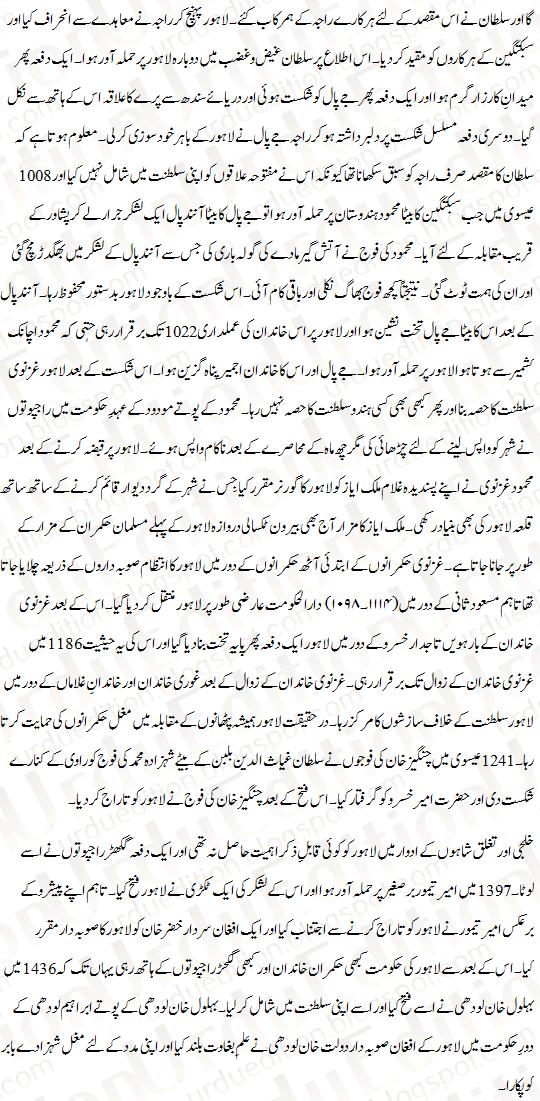 Essay On Lahore In Urdu Urdu Notes