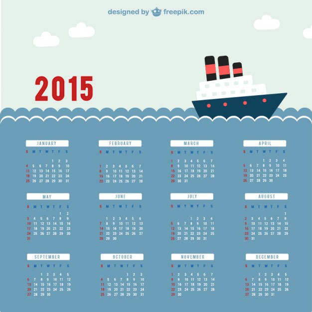 2015 Yılbaşı ve Takvim İçin Görseller (Vektörel)