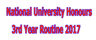 National University Nu Honours 3rd Year Routine 2017