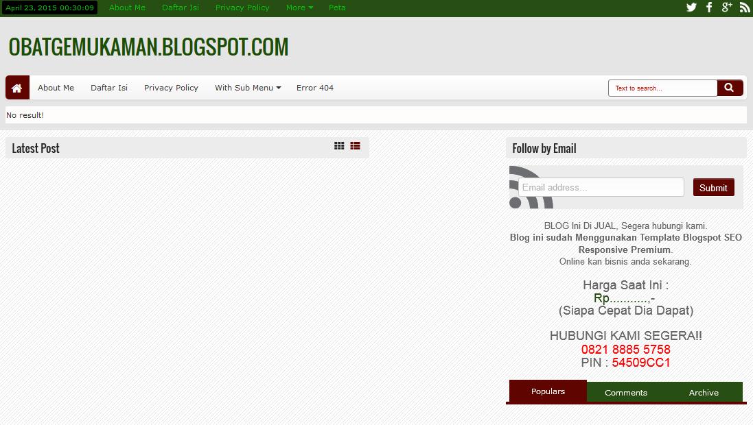 Jual Blog Bisnis Siap Pakai