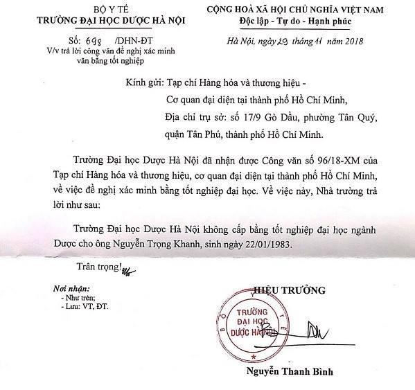 Lãnh đạo Hiệp hội Chống hàng giả Việt Nam dùng bằng giả?