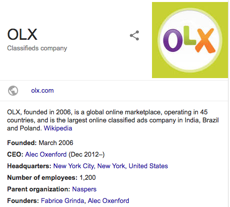 OLX Classifieds company