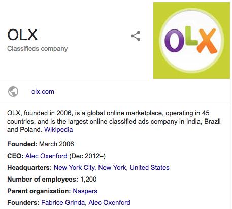 OLX Classifieds company