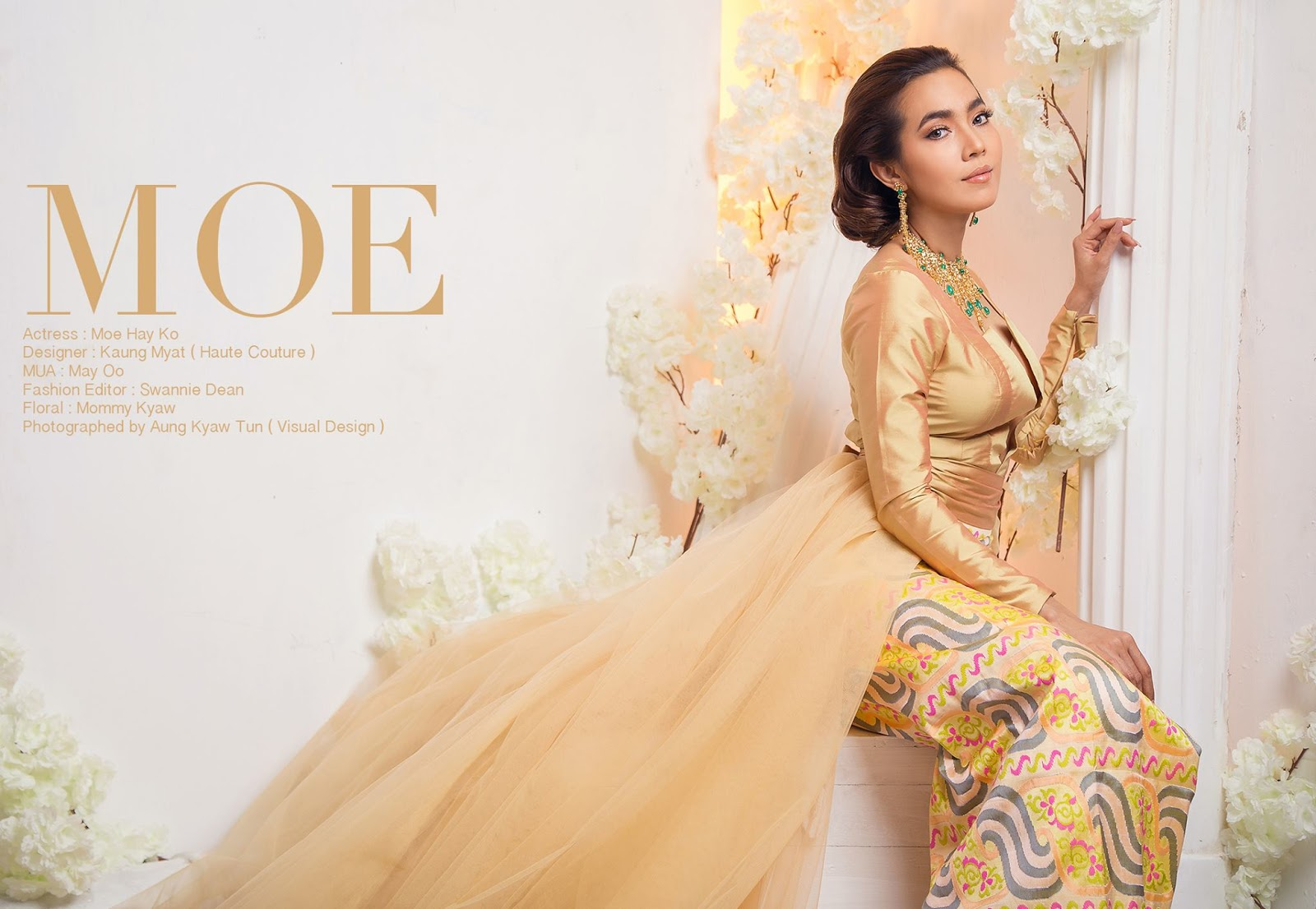 Moe Hay Ko Modern Myanmar Attire Fashion Photoshoot For People Magazine