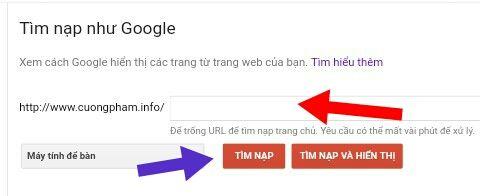 Tim nap nhu google
