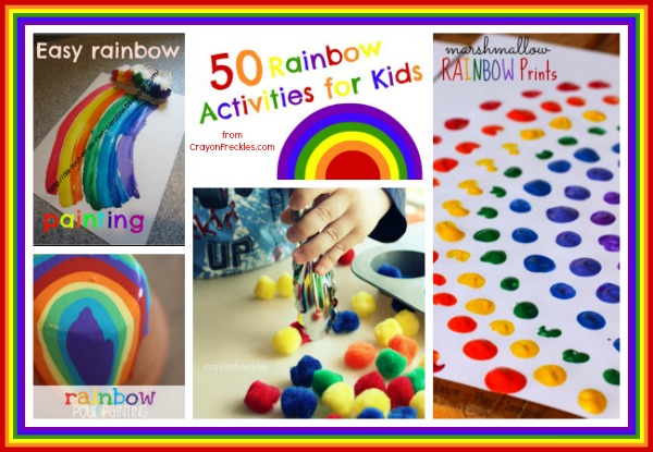 Crayon Freckles 50 Rainbow Activities For Kids
