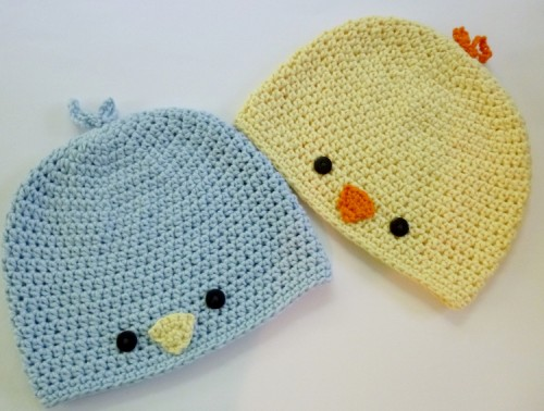 Baby Chick or Baby Bird Hat - Free Pattern