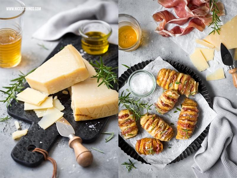 Grana Padano Rezept: Hasselback Kartoffeln Fächerkartoffeln