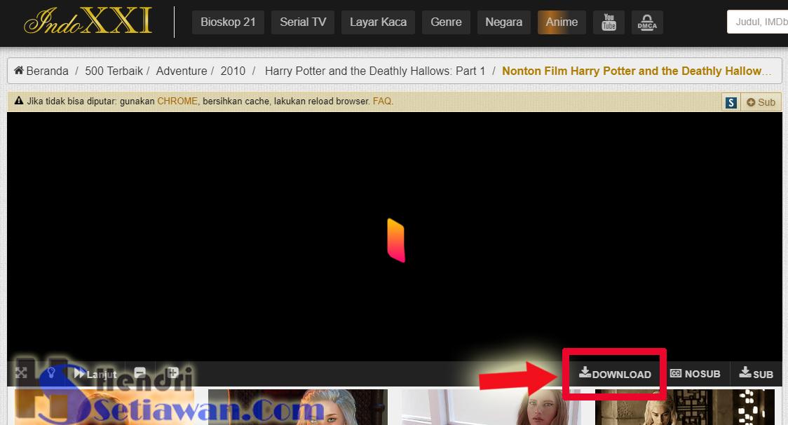 Cara Mudah Download Film di situs INDOXXI - Hendri Setiawan