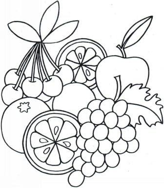 Maestra De Infantil Frutas Dibujos Para Colorear