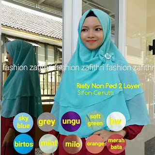 khimar risty 2 layer non pad