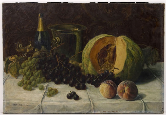 Still Life by Georges Lequim as seen on linenandlavender.net