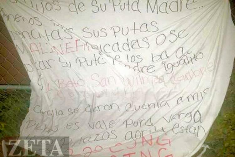 """Amenaza CJNG en Narcomanta: """"Miren hijos de su pu.. madre o se me alinean o se los van a cargar su p... madre"""""""