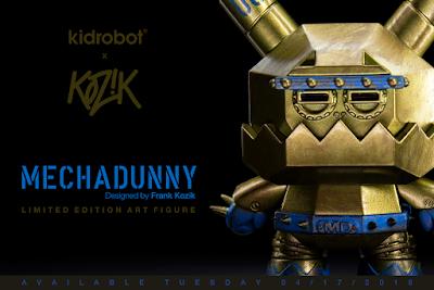 "China Wonder Festival Exclusive Mecha Dunny 3"" Vinyl Figure by Frank Kozik x Kidrobot"