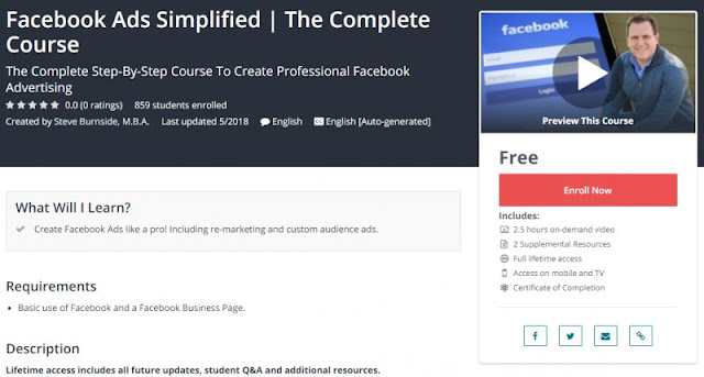[100% Free] Facebook Ads Simplified | The Complete Course