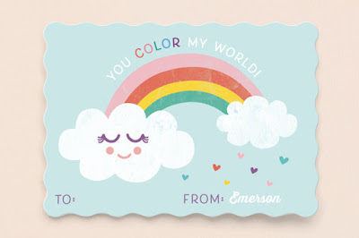 Rainbow world card