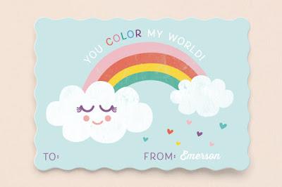Rainbow world card