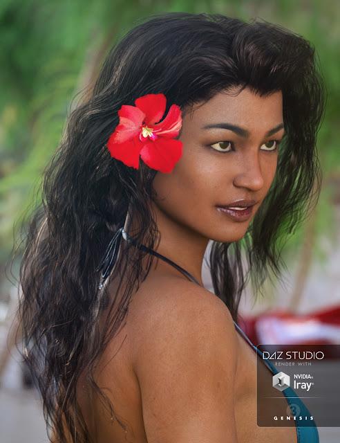 Oleander Hair for Genesis 3 Female