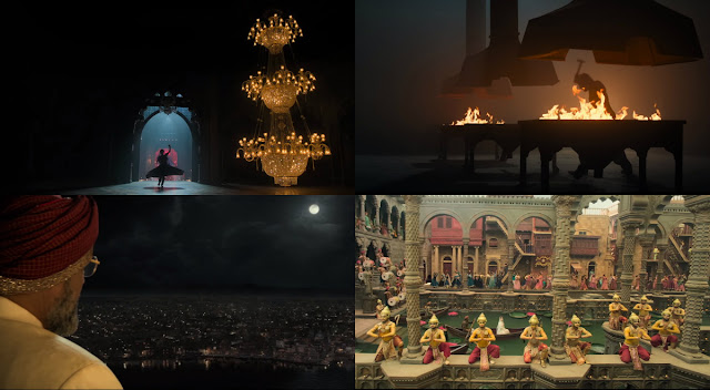 A collage of beautiful stills from Kalank's teaser