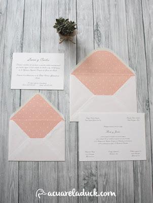 invitación rosa cuarzo