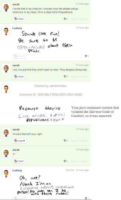 Miiverse violation just mentioning Republicans