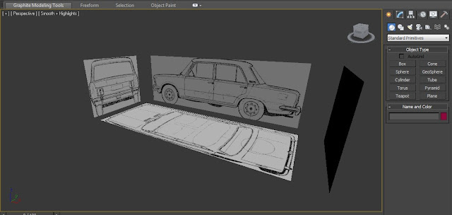 3ds max, tutorial, fiat 125p model 3d, modelowanie 3d