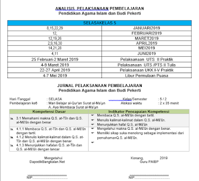 JURNAL PAI Kelas 1 K13 Revisi 2018 Semester 2