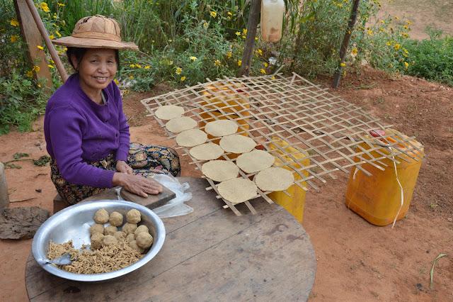 Villageoise dans la vallée Shan